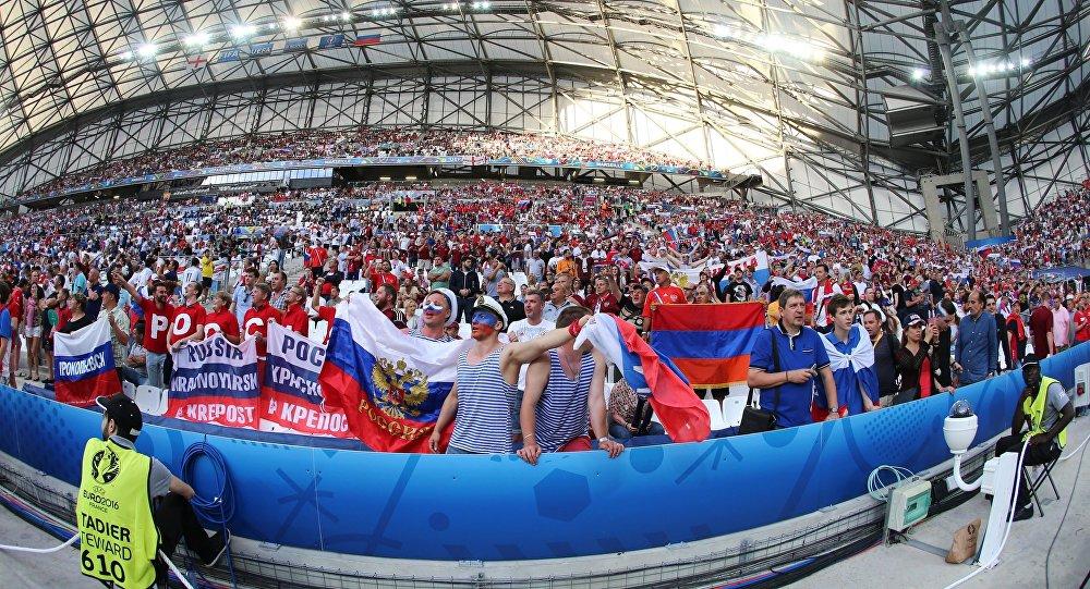 Hinchas rusos en la Eurocopa-2016