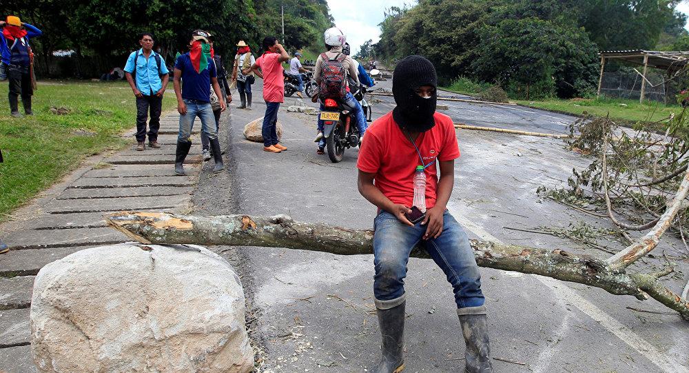 Protestas de indígenas de Colombia (archivo)