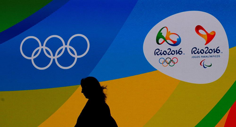 Logos olímpicos en Río de Janeiro, Brazil
