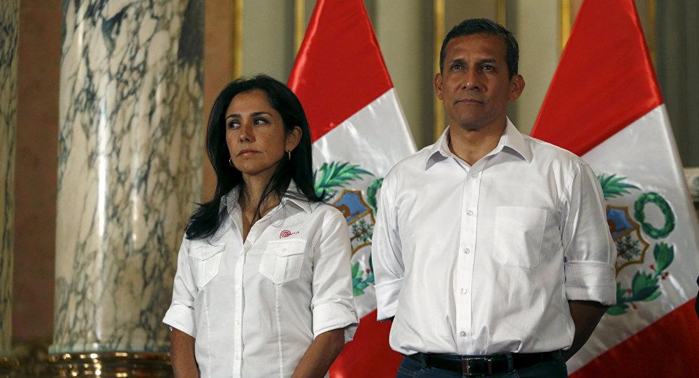 El expresidente de Perú, Ollanta Humala, junto a su mujer, Nadine Heredia (archivo)