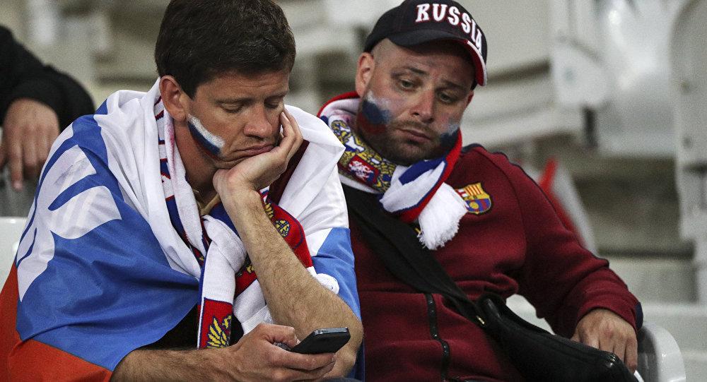 Los hinchas rusos