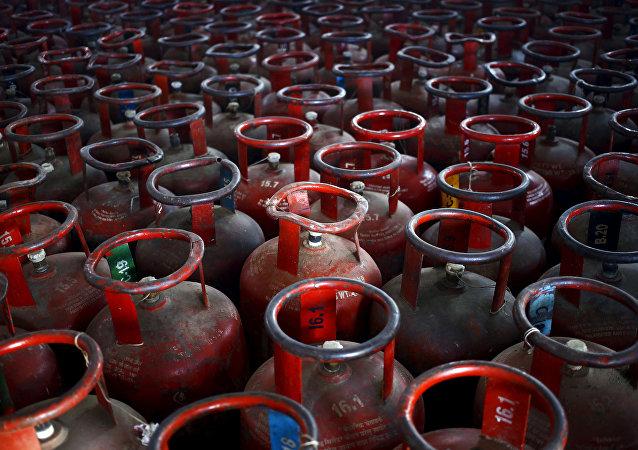 Bombonas de gas licuado