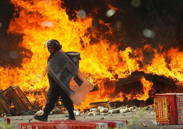 Las disturbios en Oaxaca