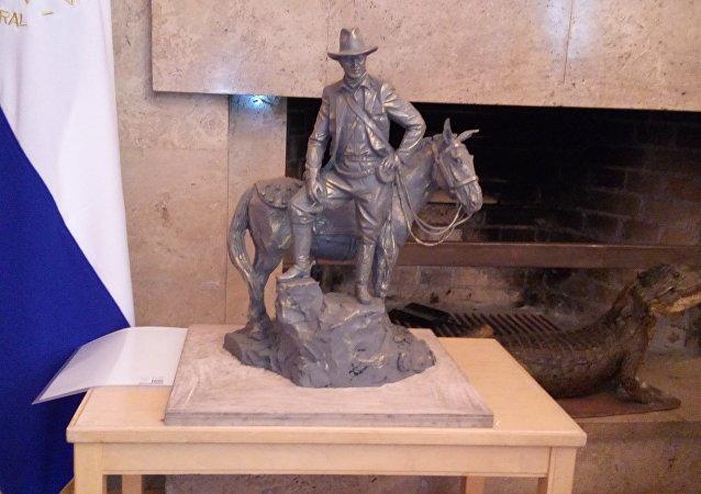 Maqueta del monumento dedicado al revolucionario nicaragüense, Augusto Sandino