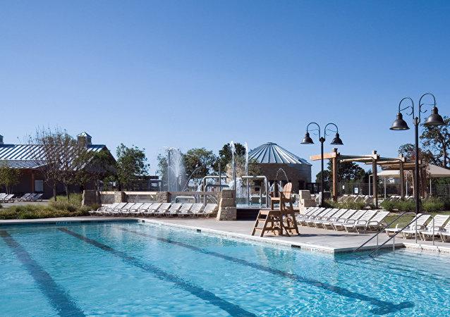 Una piscina pública