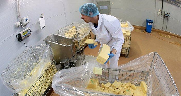 Producción de queso procesado en Rusia