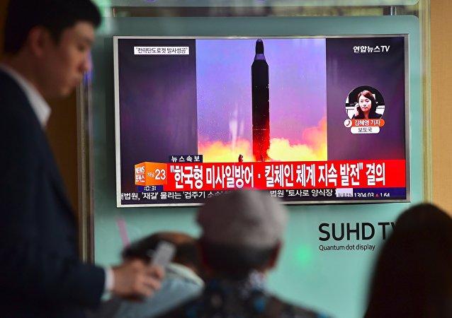 El lanzamiento de un misil por Corea del Norte (archivo)