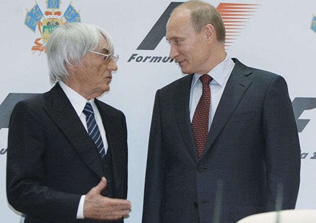 Vladímir Putin y Bernie Ecclestone
