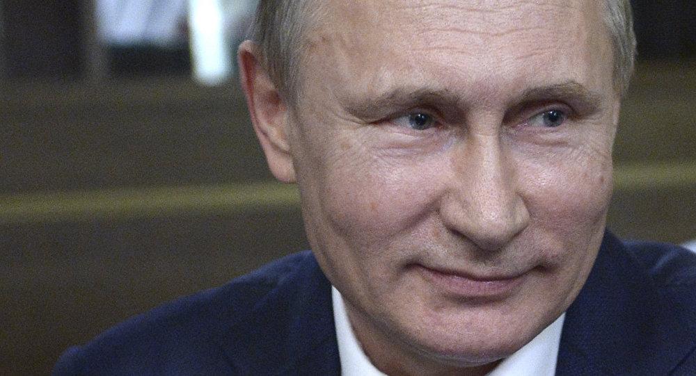 Vladímir Putin, presidente de Rusia, durante una entrevista con Bild