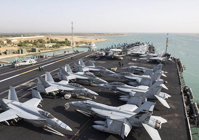 El portaviones de EEUU, USS Harry Truman, rumbo al mar Mediterráneo
