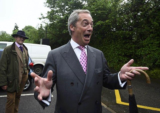 Nigel Farage, líder del Partido por la Independencia del Reino Unido (UKIP)