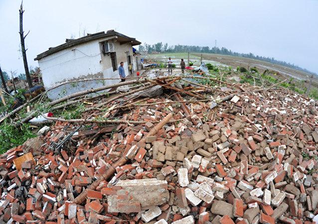 Tornado en el este de China
