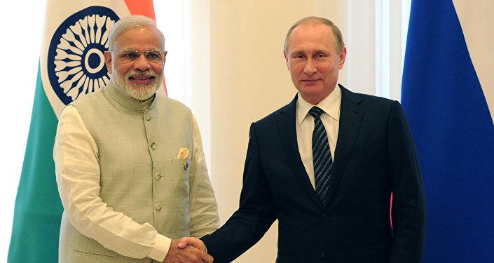 Primer ministro de la India, Narendra Modi, y presidente de Rusia, Vladímir Putin ( archivo)