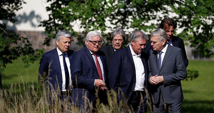 Ministros de Exteriores de los países fundadores de la UE (archivo)