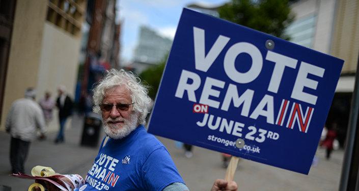 Partidario de la permanencia de Gran Bretaña en la UE