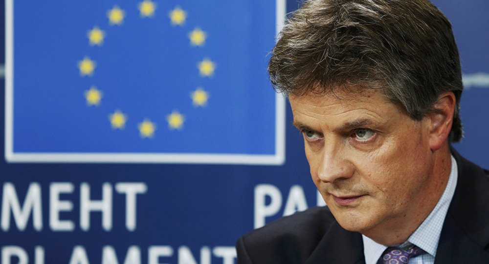 Jonathan Hill, comisario europeo de Estabilidad Financiera, Servicios Financieros y Mercados de Capitales Unión
