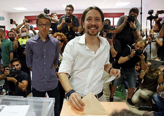 Pablo Iglesias, candidato del partido Podemos