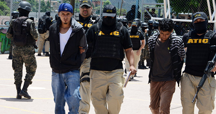 Pandilleros de Mara Salvatrucha detenidos en Honduras (archivo)