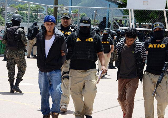 Pandilleros de Mara Salvatrucha detenidos en Honduras