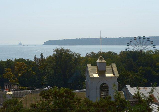 Vista a la bahía de Kerch
