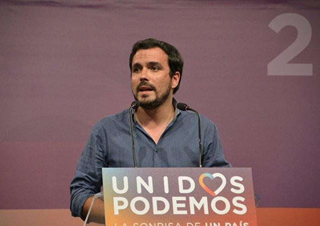 Alberto Garzón, coordinador federal de la formación española Izquierda Unida (IU)