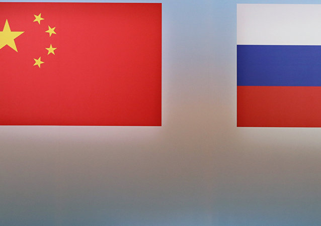 Banderas de China y Rusia