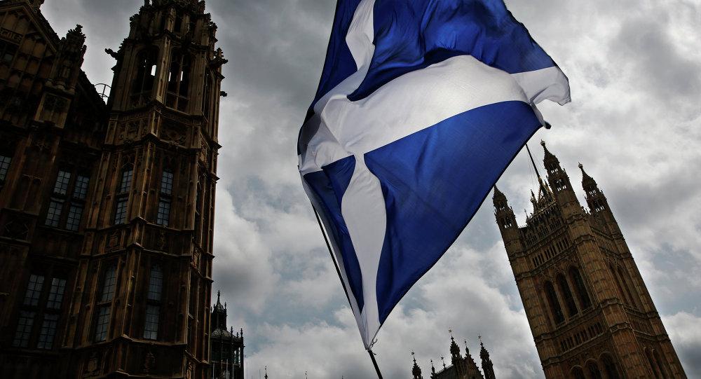 Bandera de Escocia (imagen referencial)