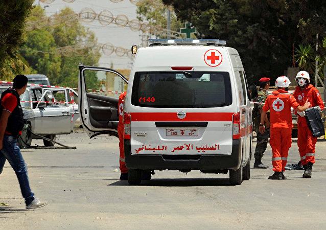 Una ambulancia en Líbano (archivo)