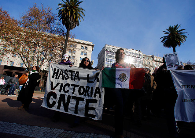 Protesta en Oaxaca, México