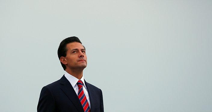 Enrique Peña Nieto, el presidente de México, durante su visita a Canadá