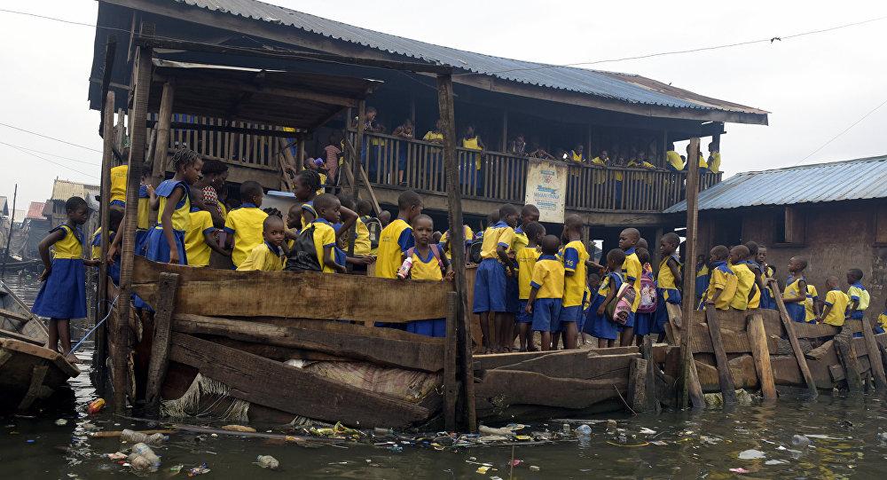 Una escuela en Nigeria