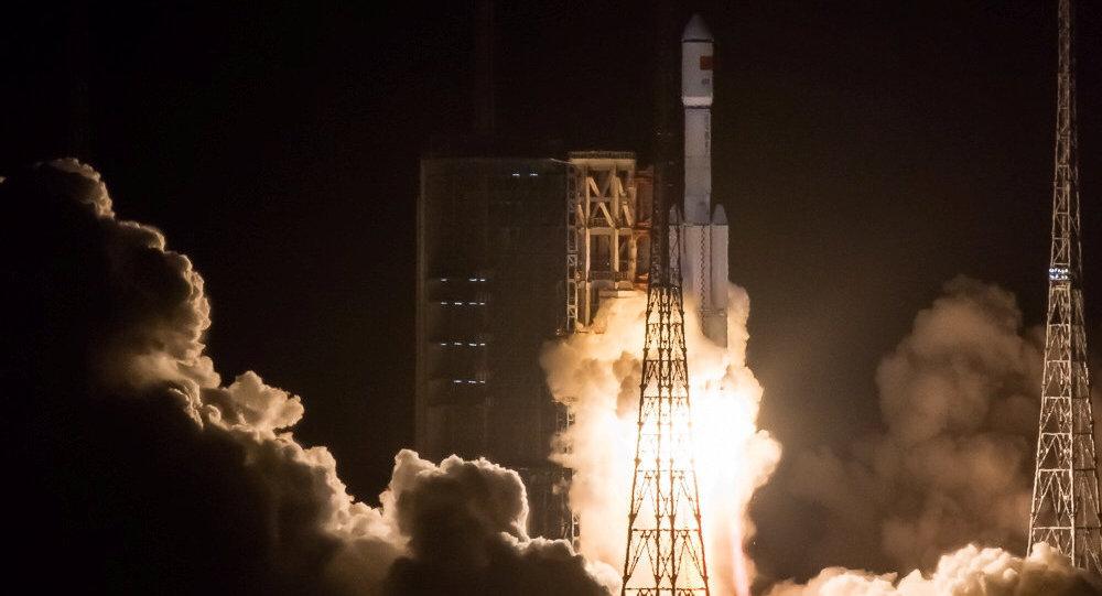 El lanzamiento del cohete chino Larga Marcha 7