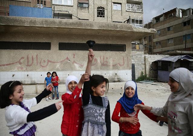 Niñas sirias