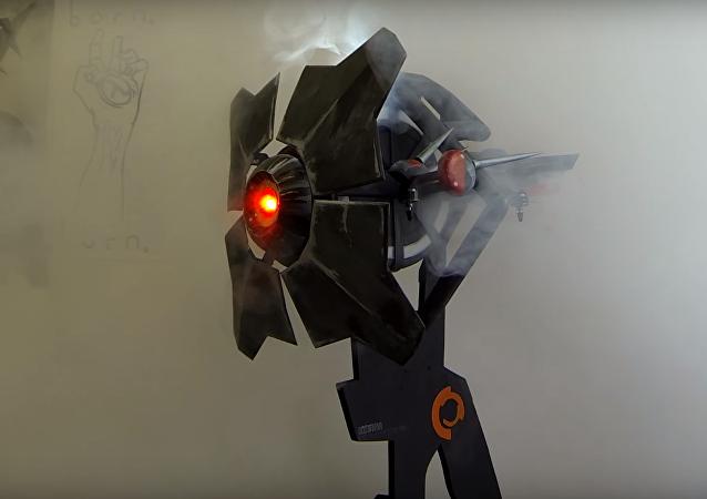 Prototipo ruso del escáner volador de Half-Life 2