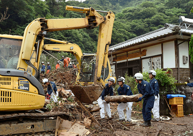 Las consecuencias de las lluvias en la prefectura nipona de Kumamoto