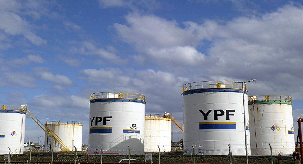 Instalaciones de la compania argentina, YPF.