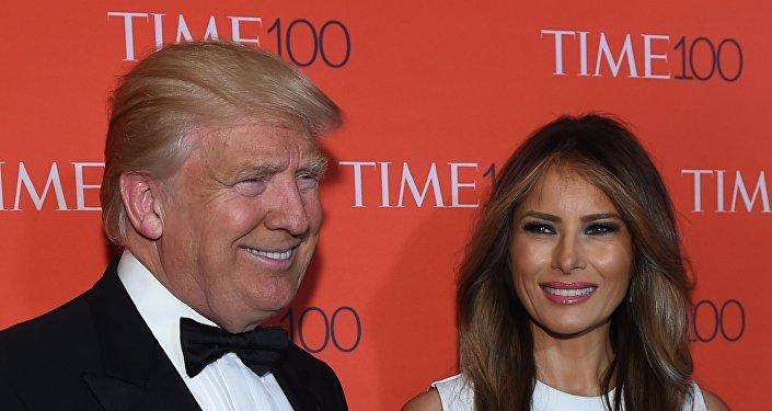 Donald Trump y su esposa, Melania