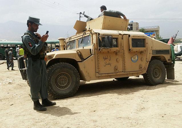 Fuerzas de seguridad afganos en Kabul (archivo)
