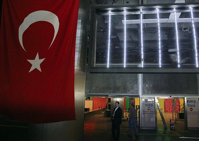 El aeropuerto Ataturk en Estambul