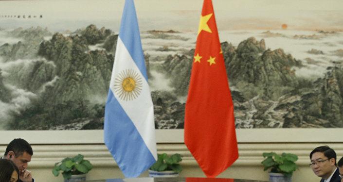 Banderas de Argentina y China