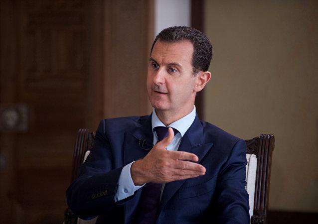 Bashar Asad, presidente de Siria, durante la entrevista (archivo)