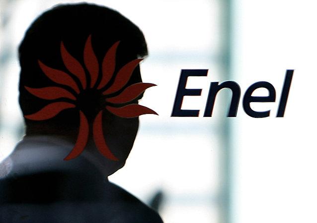 Logo del grupo italiano Enel