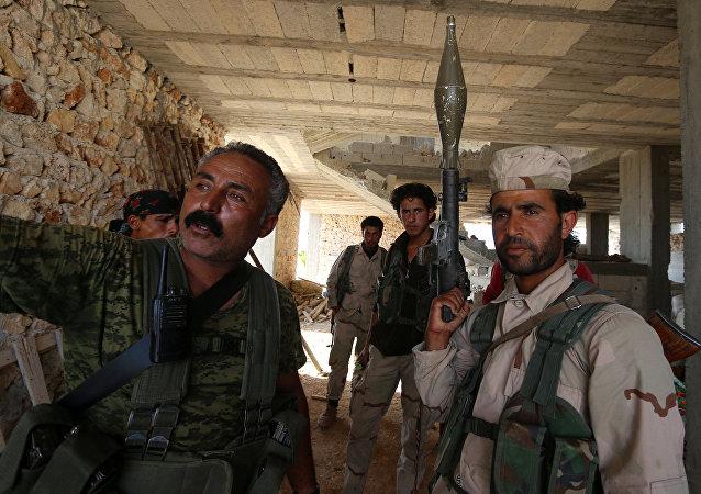 Las Fuerzas Democráticas Sirias en Manbij (archivo)
