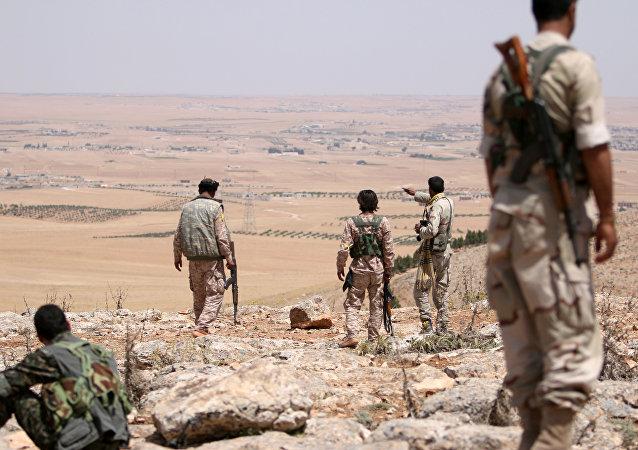 Los combatientes del consejo militar de Manbij