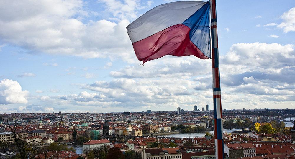 La bandera de la República Checa