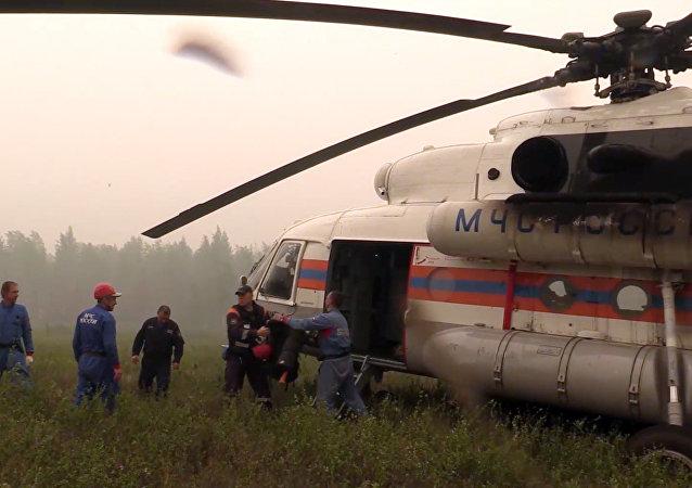 Equipos de socorro se dirigen al lugar del accidente del Il-76 ruso