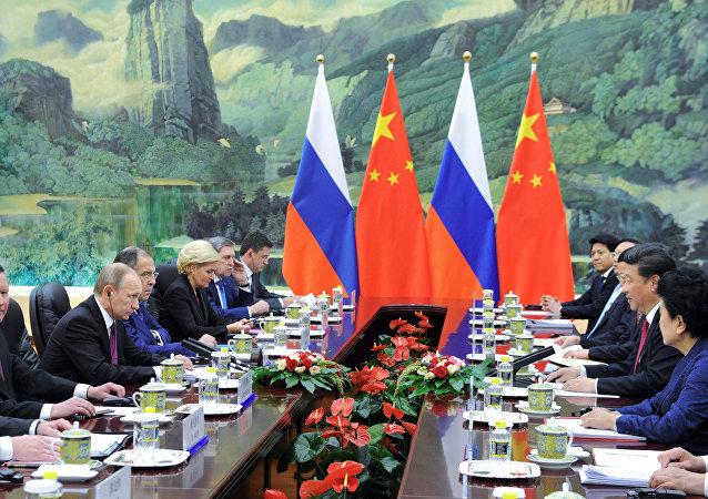 Encuentro entre presidente ruso, Vladímir Putin y presidente chino Xi Jiping en Pekín