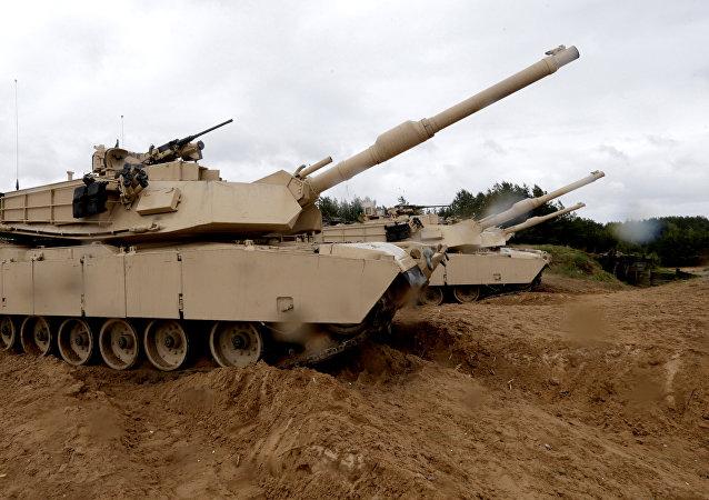 Tanques estadounidenses M1 Abrams  (archivo)