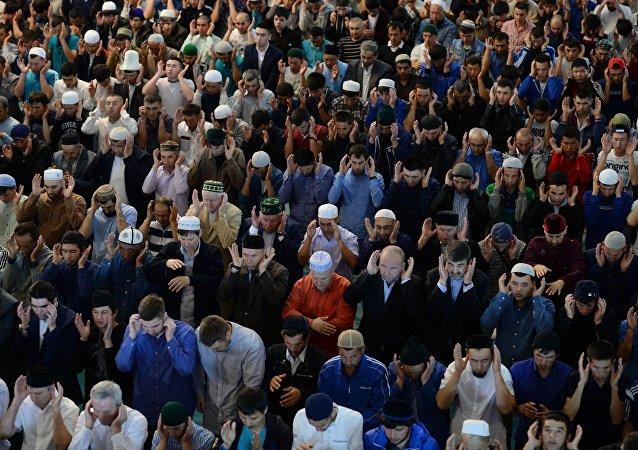 La celebración del Eid al-Fitr en Moscú