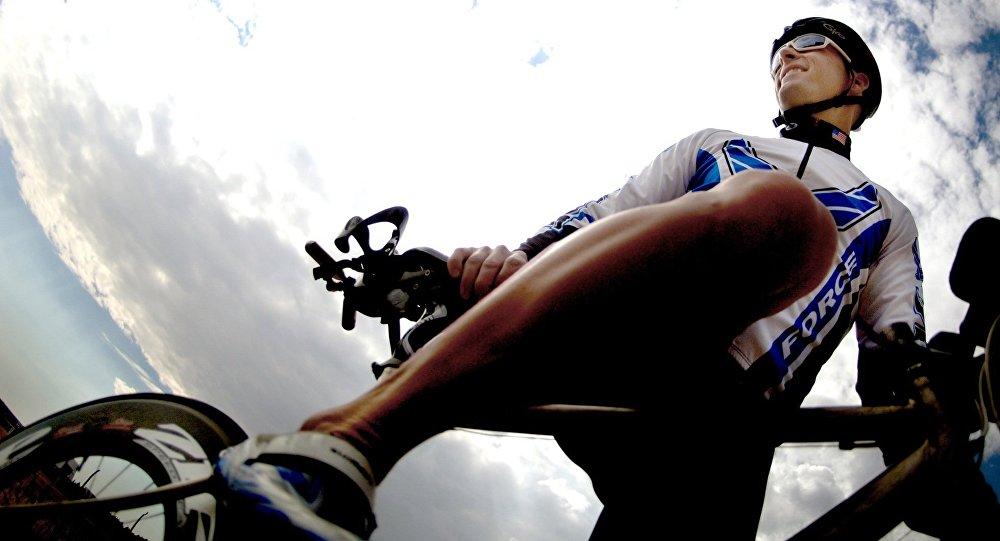 Un ciclista (archivo)
